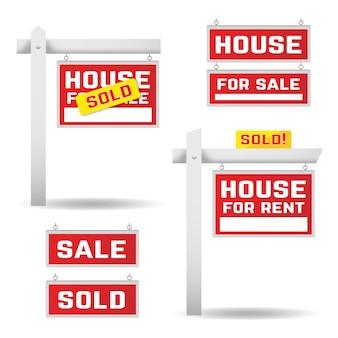 Colección de carteles de venta inmobiliaria