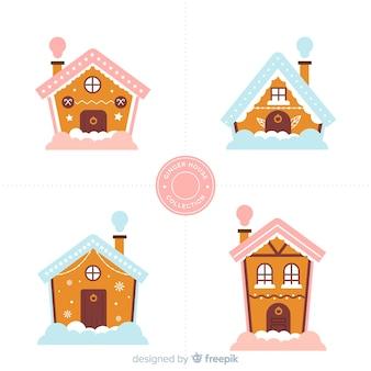 Colección casas con chimenea pan de jengibre