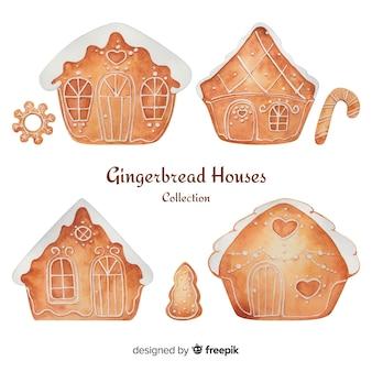 Colección de casas de galleta de jengibre