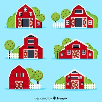 Colección de casas de granja
