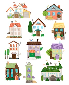 Colección de casas lindas surtidas