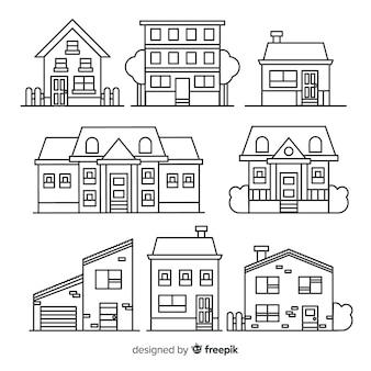 Colección de casas lineales