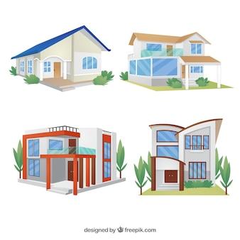 Colección de casas modernas