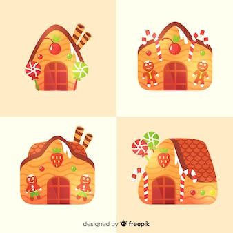 Colección de casas de pan de jengibre