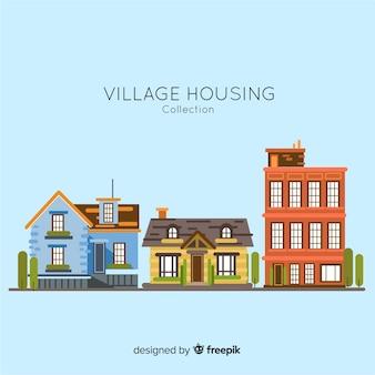 Colección de casas de pueblo