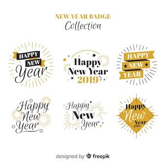 Colección chapas año nuevo detalles dorados