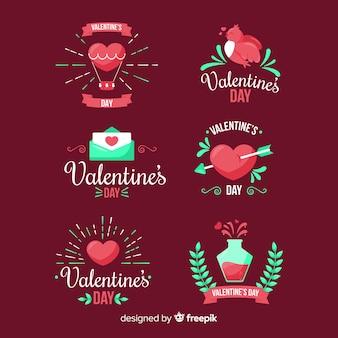 Colección chapas día de san valentín