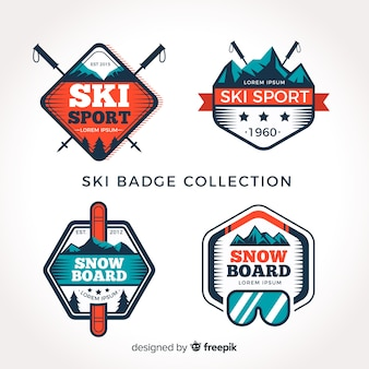 Colección de chapas de esquí