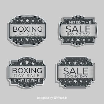 Colección de chapas de rebajas boxing day vintage