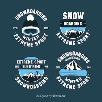 Colección de chapas de snowboard