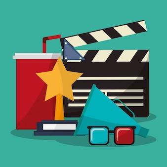 Colección cine película gafas premio soda altavoz
