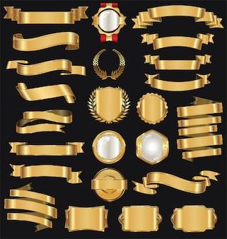 Colección de cinta dorada retro