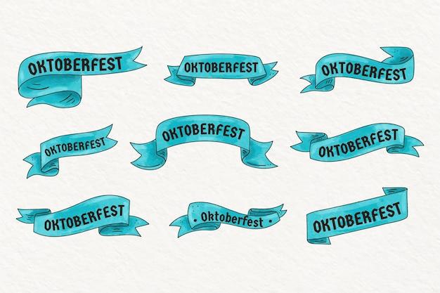 Colección de cintas de acuarela oktoberfest