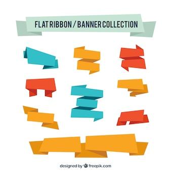 Colección de cintas y banners
