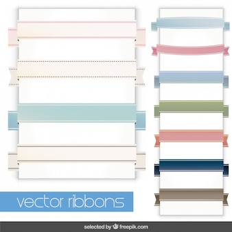Colección de cintas en colores pastel