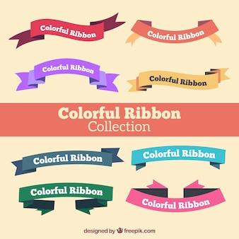 Colección de cintas de colores