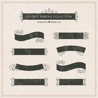 Colección de cintas elegantes en estilo vintage