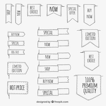 Colección cintas esbozadas