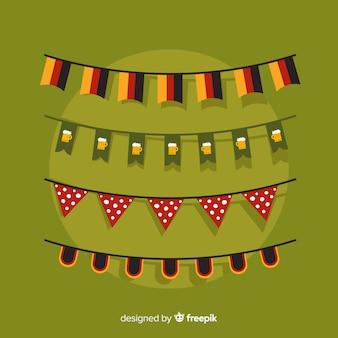 Colección de cintas de guirnaldas de oktoberfest