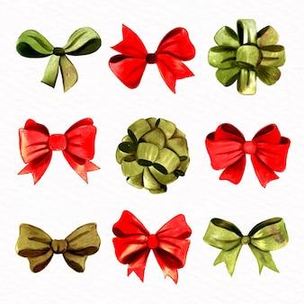 Colección de cintas navideñas de acuarela