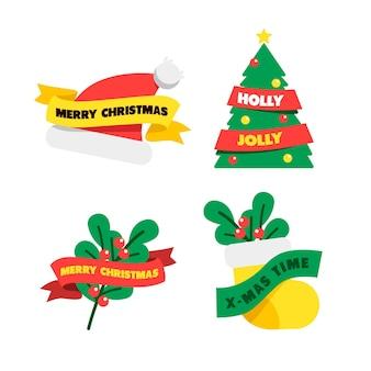 Colección de cintas navideñas planas