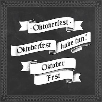 Colección de cintas oktoberfest dibujadas a mano