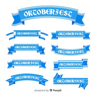 Colección de cintas del oktoberfest en diseño plano