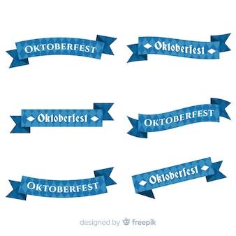Colección de cintas de oktoberfest de diseño plano