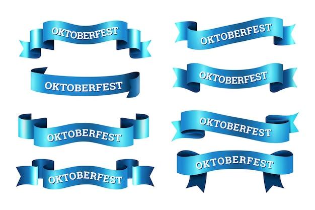 Colección de cintas de oktoberfest realista