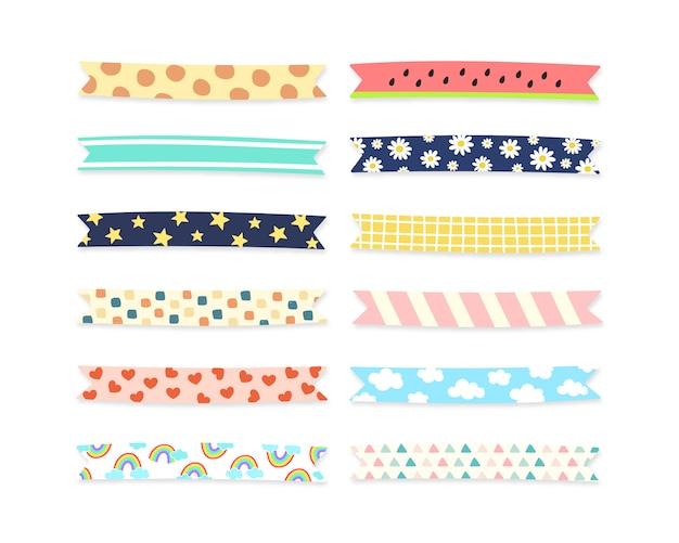 Colección de cintas de patrones lindos.