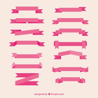 Colección de cintas vintage rosa