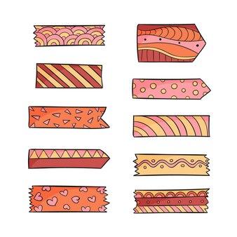 Colección de cintas washi dibujadas