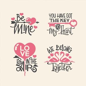 Colección de citas de letras de san valentín