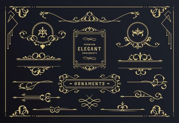 Colección clásica de marcos de adornos