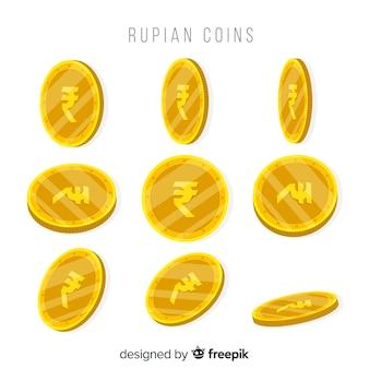 Colección clásica de rupias indias