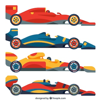Colección de coches de formula 1