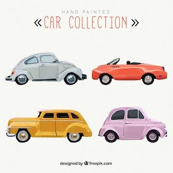 Colección de coches pintados a mano