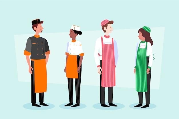 Colección de cocineros de comida