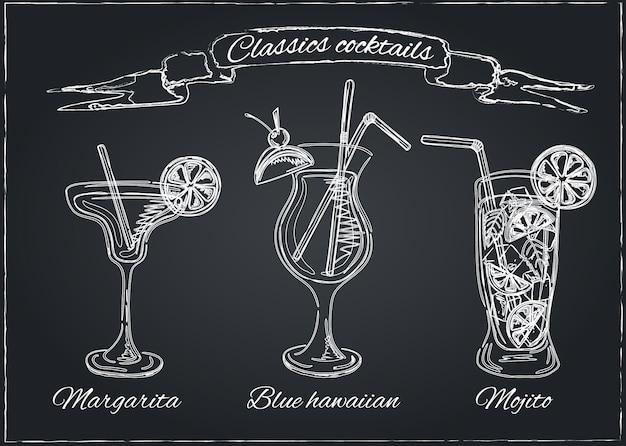 Colección de cócteles conjunto de vectores
