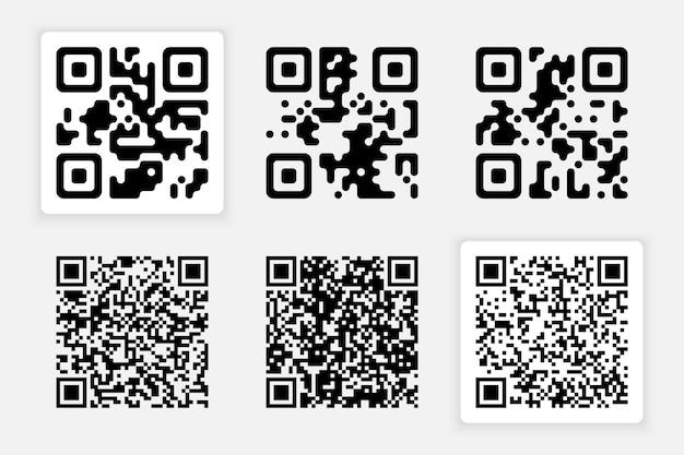 Colección de códigos aislados en gris