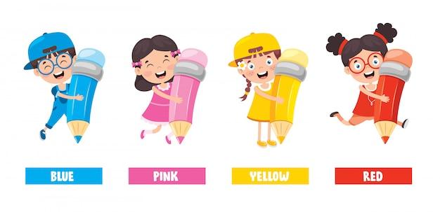 Colección de colores para la educación infantil