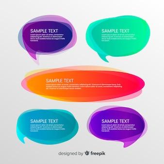 Colección colorida de burbujas de discurso