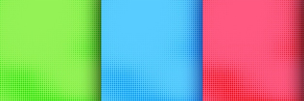 Colección colorida de diseño de semitonos