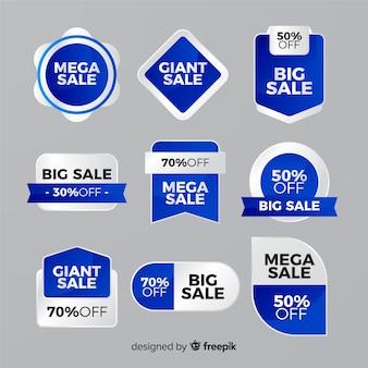 Colección colorida de etiquetas de ventas
