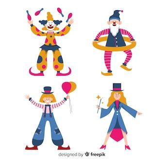 Colección colorida gente disfrazada