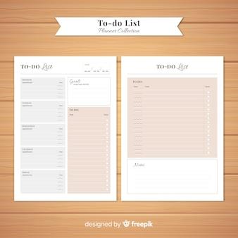 Colección colorida de listas de cosas que hacer con diseño plano