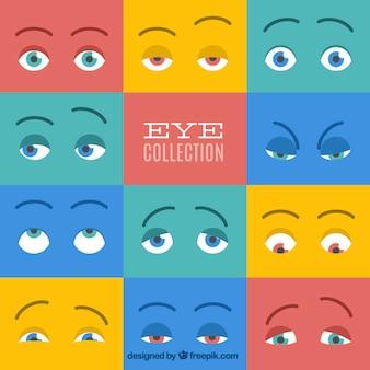 Colección colorida de ojos