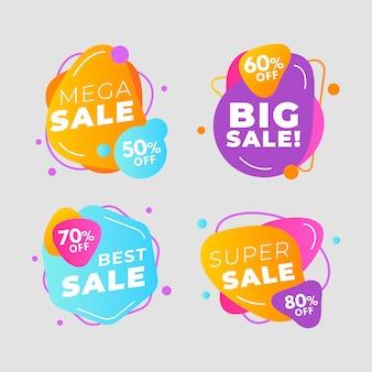 Colección colorida de pancartas de ventas