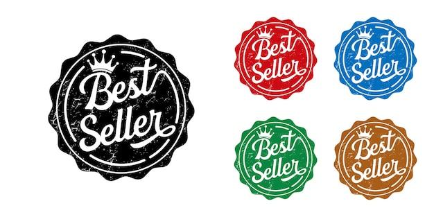 Colección de coloridas etiquetas de best seller