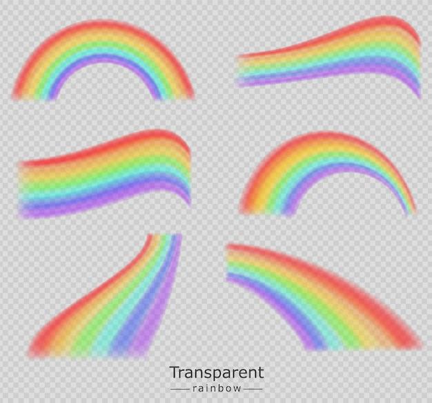 Colección de coloridos arcoiris